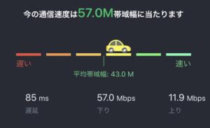 楽天モバイルスピードテスト1